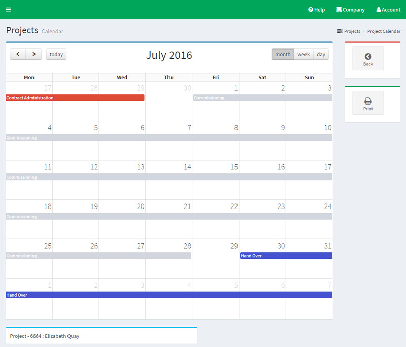 Project manage tasks on the calendar